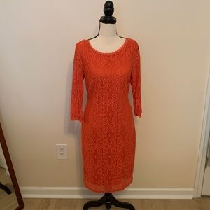 Laundry Coral Lace Dress
